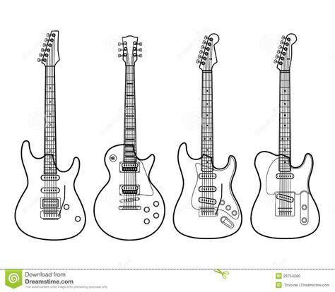electric guitars isolated on white stock photo image
