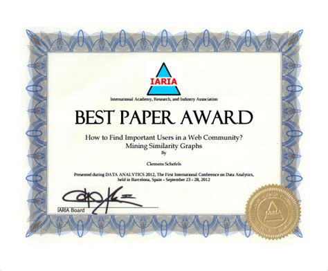 creative certificate templates award certificate template 29 in pdf word