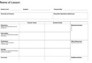 Simple Lesson Plan Template by Best Photos Of Easy Lesson Plan Formats Simple Lesson