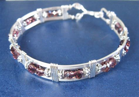 you to see wire wrapped swarovski bracelet by rubysues