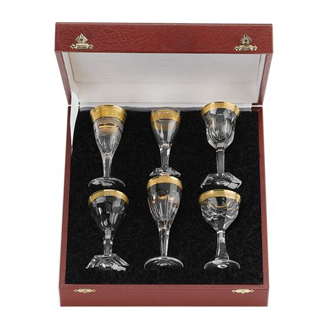 moser barware moser set set of 6 liqueur glasses 187 paris jewelers gifts