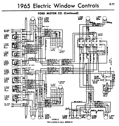 1965 lincoln continental window safety relay convertible