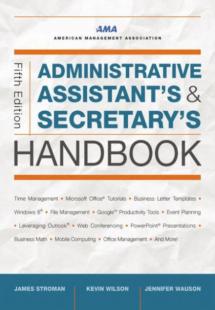 Administrative Assistant S And Secretary S Handbook By James Stroman Kevin Wilson Jennifer Administrative Assistant Manual Template