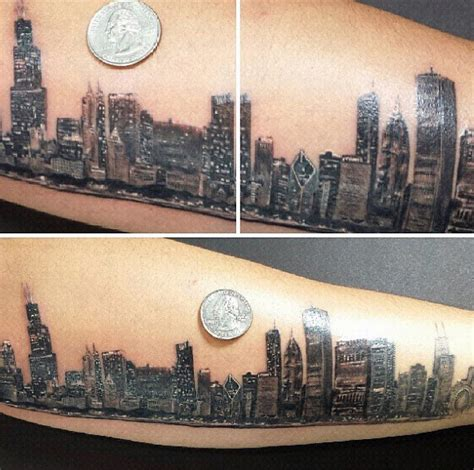 chicago skyline tattoos 20 chicago skyline designs for center ink