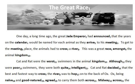 new year zodiac story printable myth of the zodiac the great race