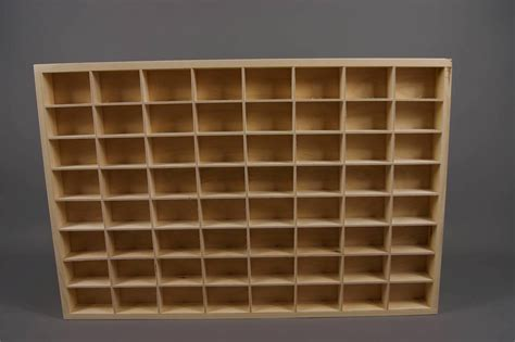 citadel paints miniatures display shelves wooden unit