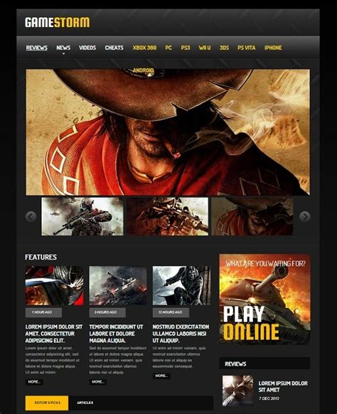 Gaming Website Templates Pro Tips For Building A Gaming Website Gaming Website Template