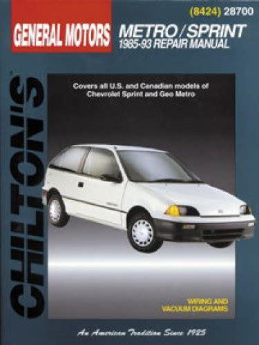 chilton car manuals free download 1998 chevrolet metro spare parts catalogs service manual chilton general motors geo metro chevrolet sprint 1985 chevrolet sprint geo
