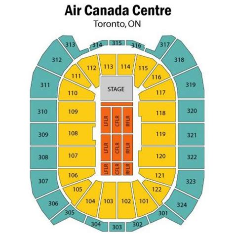 acc floor plan air canada centre concert seating chart air canada centre