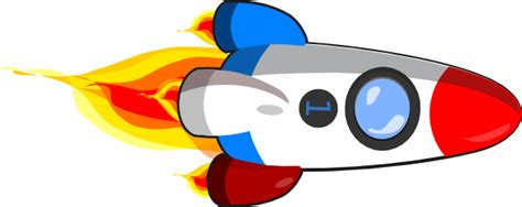 rocket ship clipart rocket ship white and blue clip at clker