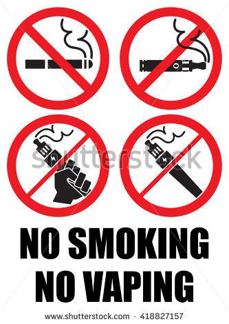 no smoking sign in japanese set vaping icons no smoking sign stock vector 418827157