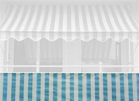 markisen paradies gutschein balkonbespannung 75 cm design blau wei 223