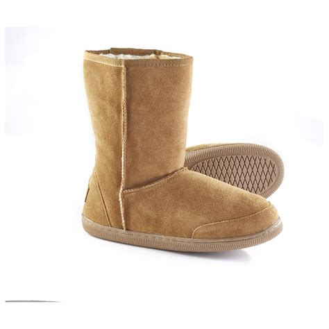 boot slippers guide gear s 10 quot suede boot slippers 77190
