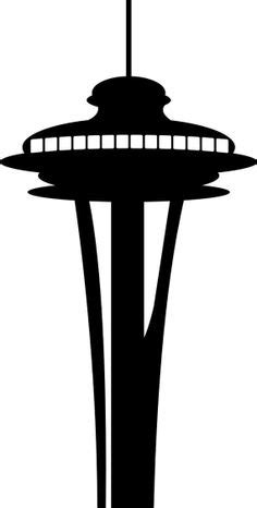 seattle space needle silhouette art docent seattle