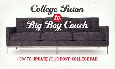 college couch college futon to big boy couch how to update your post