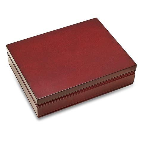 B394 Wine personalized rosewood finish card box executive