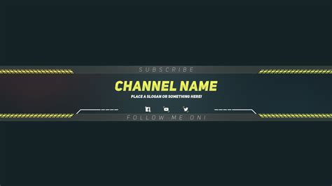 premium youtube banner template photoshop template youtube