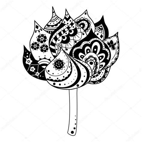 simbolo fiore di loto fiore di loto con elementi decorativi di indiani e simboli