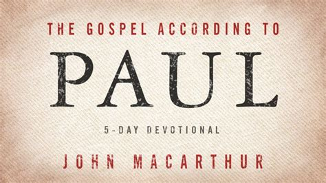 gospel according to paul plan for reading the bible