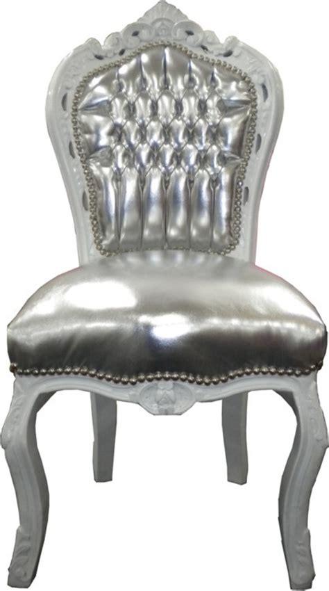 Esszimmer Le Silber by Casa Padrino Barock Esszimmer Stuhl Silber Lederoptik