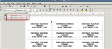 printing address labels with openoffice left brain tinkering printing address labels from