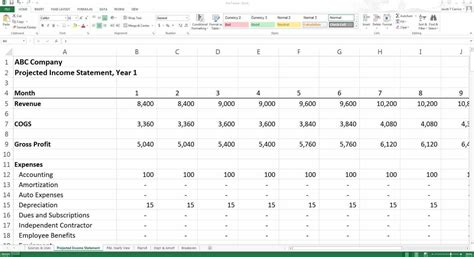excel template for financial projections stron biz excel template for financial projections