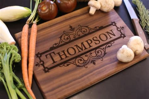 personalized cutting board christmas gift bridal shower