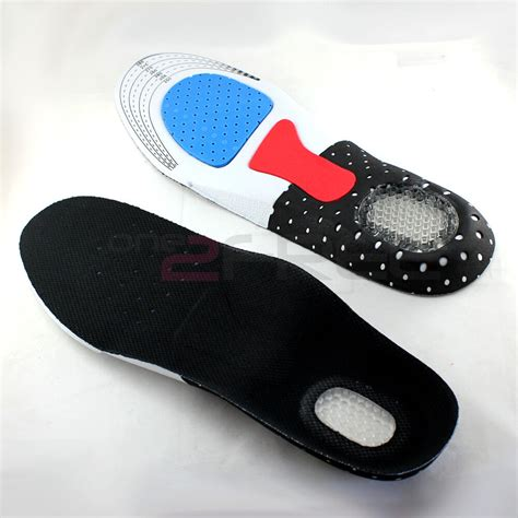 1pair orthotic arch support shoe sport running gel insoles insert arch cushion ebay