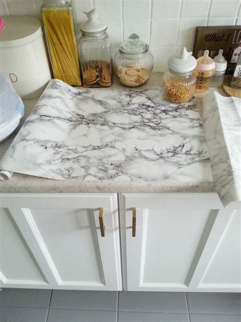 diy super cheap easy marble  counters   contact paper wwwmakedoanddiycom