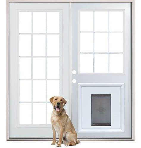 patio back doors with pre installed pet door