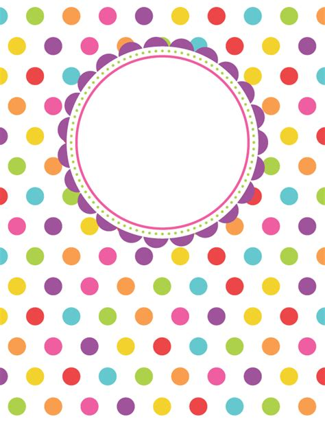 free binder cover templates free printable polka dot binder cover template