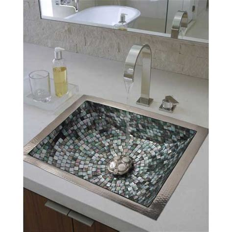 mosaic bathroom sinks linkasink undermount mosaic bathroom sinks