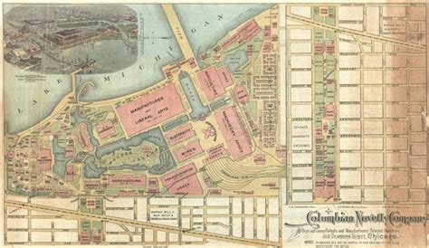 chicago worlds fair map columbian novelty company geographicus antique maps