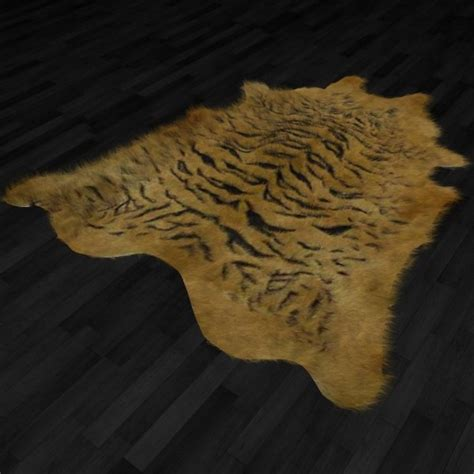 tiger fur rug fur rug tiger skin 3d model