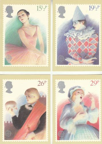 Where To Use Post Office Gift Card - collectable cards u k post office set of 4 british theatre cards 1982