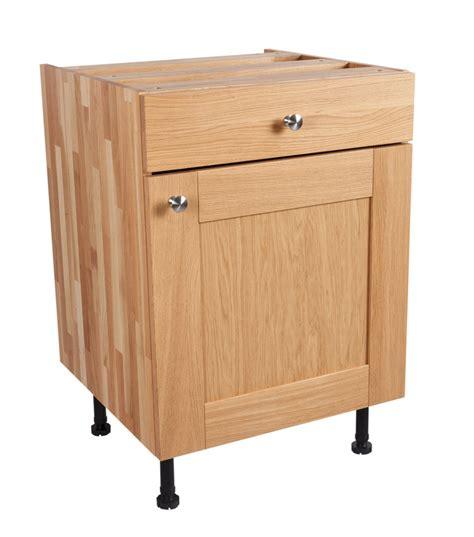 solid oak kitchen cabinets solid oak kitchen base cabinet h720mm x w500mm x d570mm