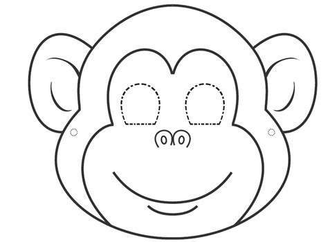 free printable monkey template printable monkey template coloring home