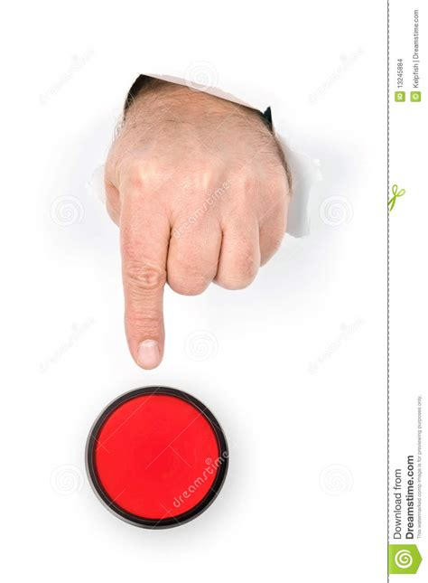 How To Make A Paper Push Button - finger pushing stop button stock images image 13245884