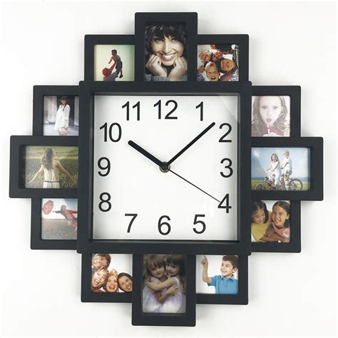 photo wall design wall clocks with picture frames