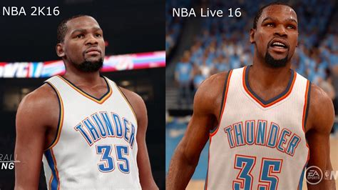 Mba 2k Live by Nba 2k16 Vs Nba Live 16 Kevin Durant Graphics
