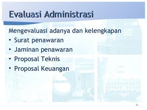 Aspek Aspek Membuat Dokumen Pengadaan Dan Evaluasi Penawaran prakualifikasi dan proses pengadaan