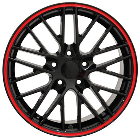 Wheels Corvette C6r Line corvette c6 zr1 wheels black line 18x8 5 set
