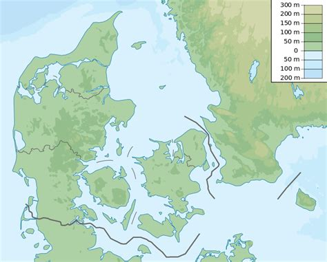physical map of denmark file denmark physical map svg the free