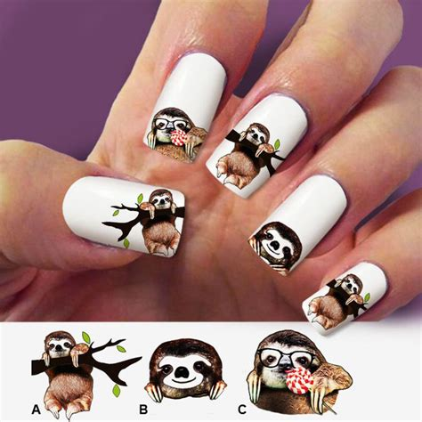 Nail Sticker Sticker Kuku 45 17 best images about sloth on sloth sloths facts and zoos