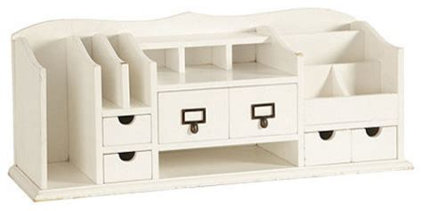 Home Office Desk Organizer Original Home Office Desk Organizer White Traditional Desk Accessories By Ballard Designs