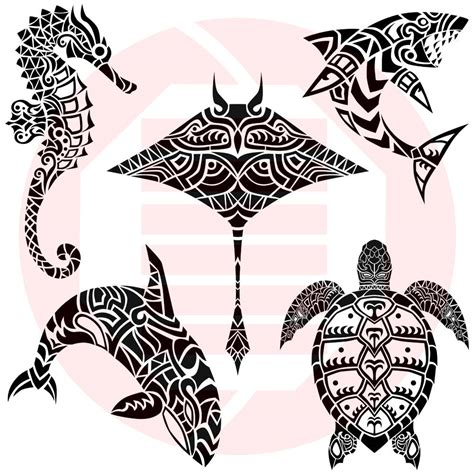 ocean svg sea marine animals decal shark turtle seahorse orca