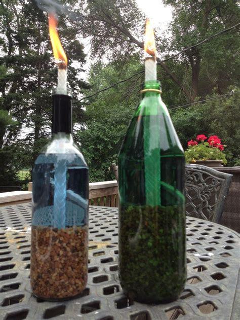 wine bottle tiki torch diy diy wine bottle tiki torches backyards