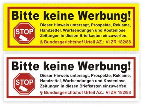 Bitte Keine Werbung Aufkleber Zum Ausdrucken by Bitte Keine Werbung Und Kostenlose Prospekte Flyer