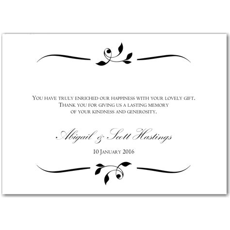 Thank You Card Messages For Gifts - thank you letter for wedding invitation wedding ideas