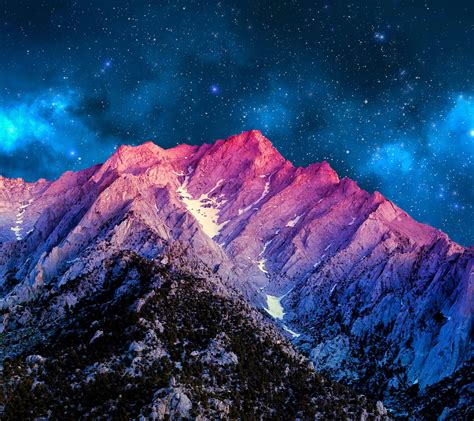 cool wallpaper for nexus 5 night sky over mountains rebrn com